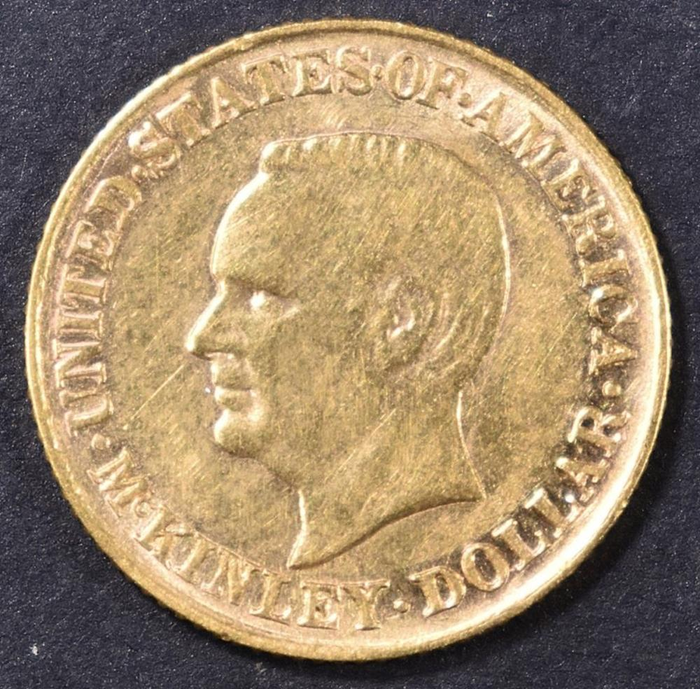Lot 219: 1916 $1 GOLD MCKINLEY BU