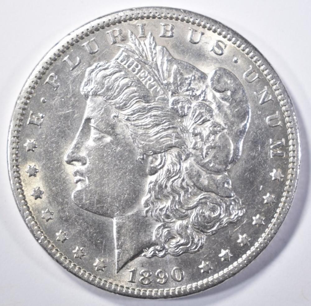 Lot 232: 1890-CC MORGAN DOLLAR CH AU