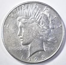Lot 233: 1928-S PEACE DOLLAR AU