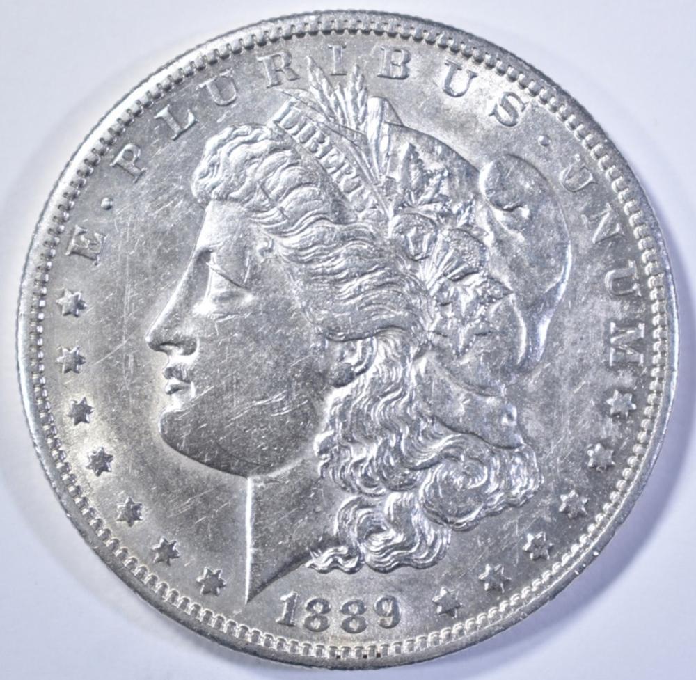 Lot 231: 1889-S MORGAN DOLLAR AU/BU
