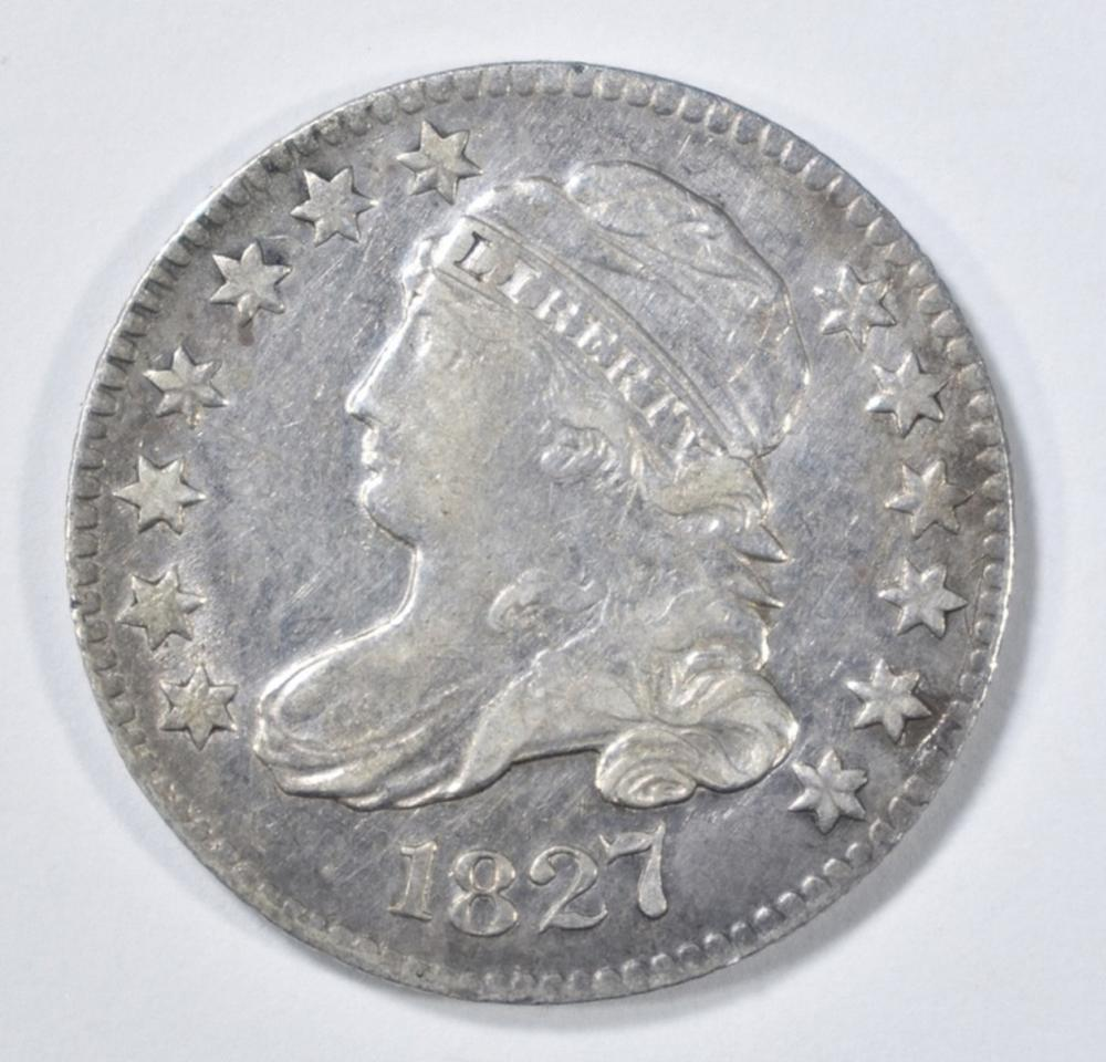 Lot 241: 1827 BUST DIME XF