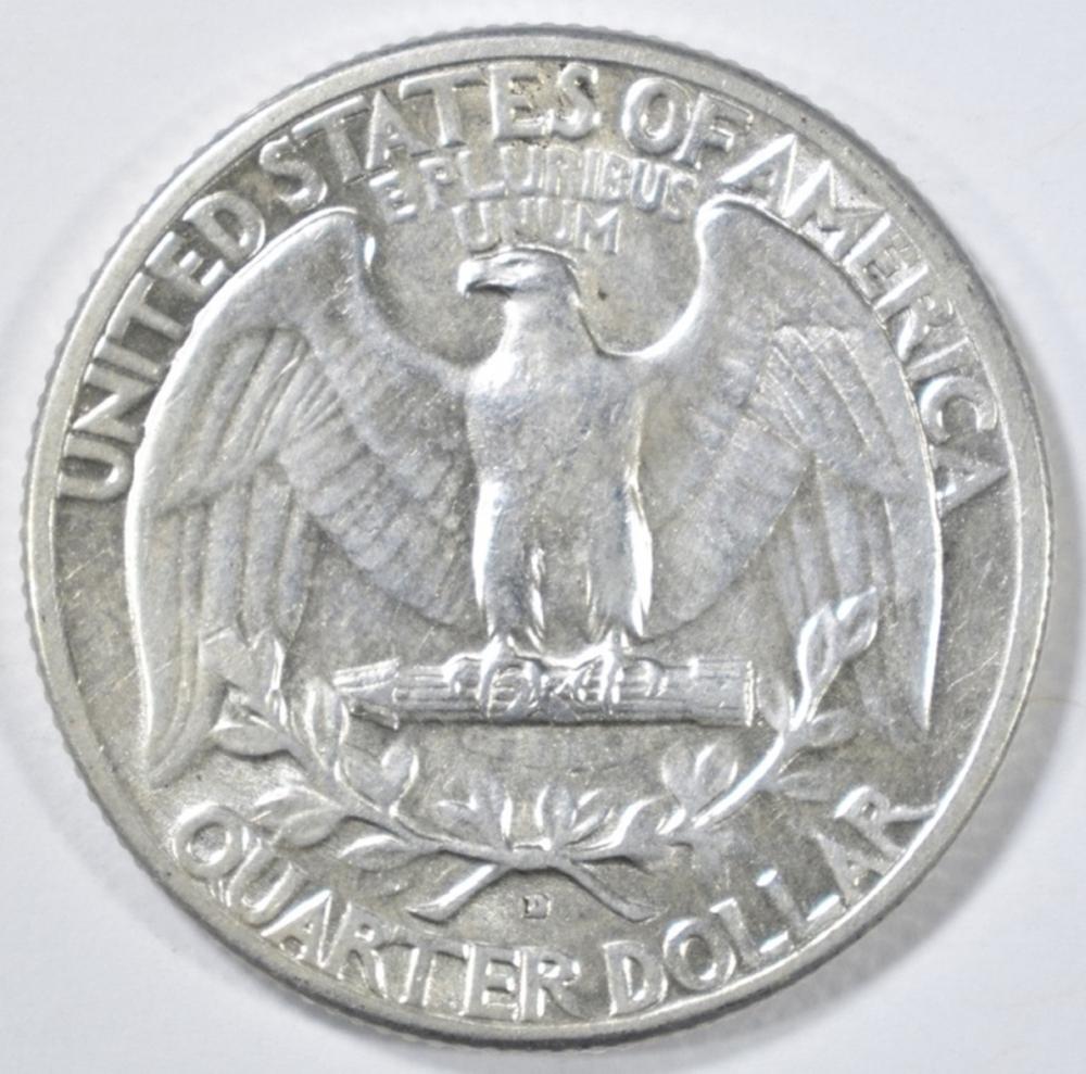 Lot 247: 1932-D WASHINGTON QUARTER CH AU