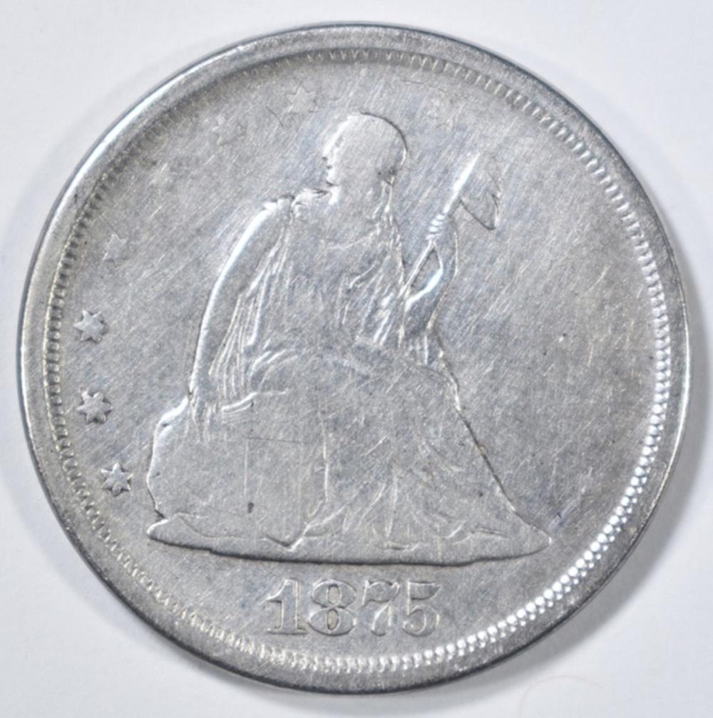 Lot 243: 1875-S 20 CENT PIECE VG