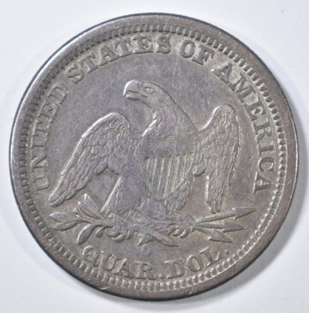 Lot 245: 1841-O SEATED LIBERTY QUARTER VF/XF