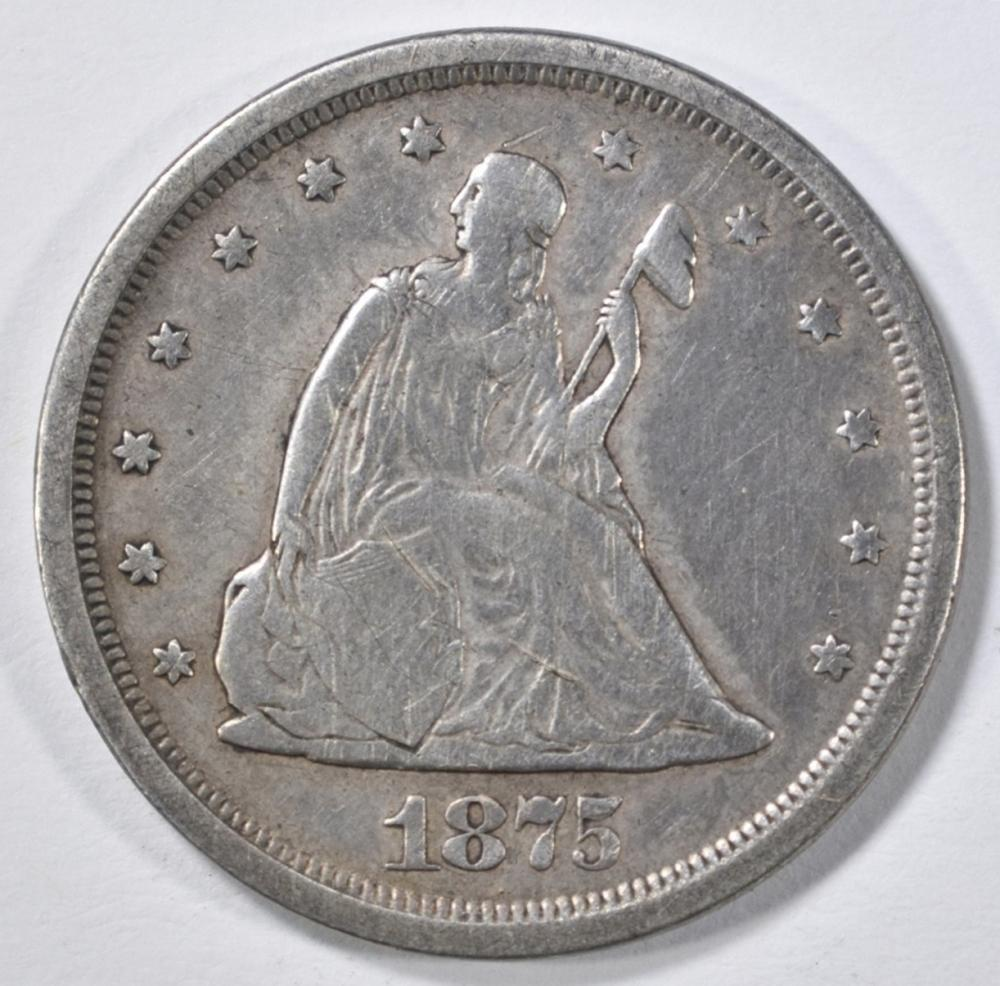 Lot 257: 1875-S 20 CENT PIECE VF