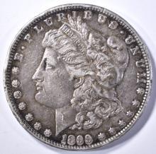 Lot 271: 1899-S MORGAN DOLLAR, AU with rim bump