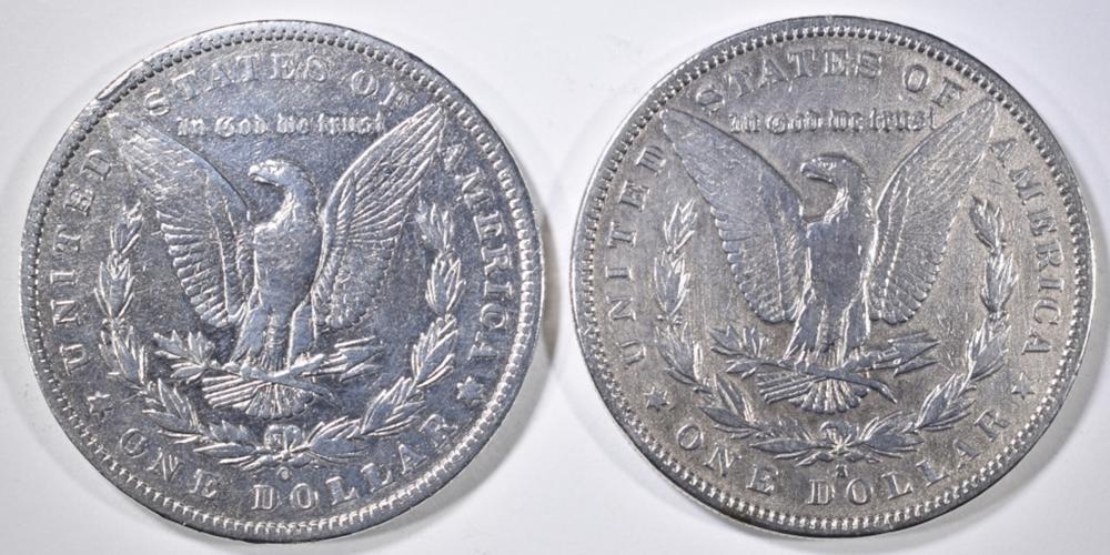 Lot 277: 1884-S VF & 86-O XF MORGAN DOLLARS