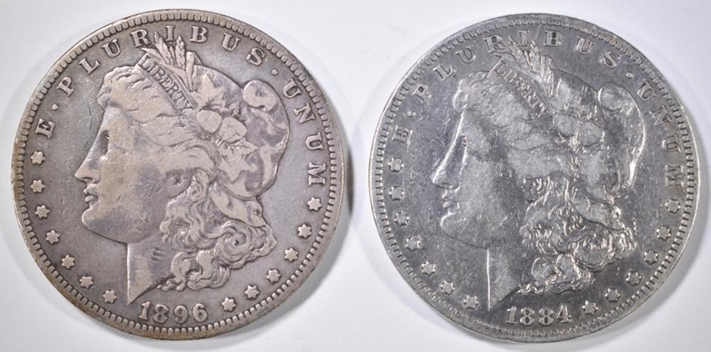 Lot 276: 1884-S & 96-O MORGAN DOLLARS FINE