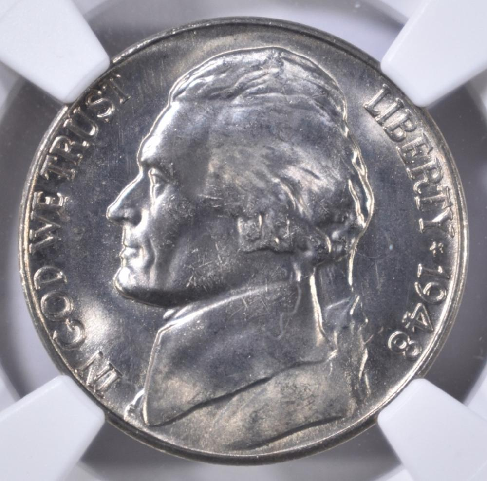 Lot 289: 1948-S JEFFERSON NICKEL NGC MS-66 FS