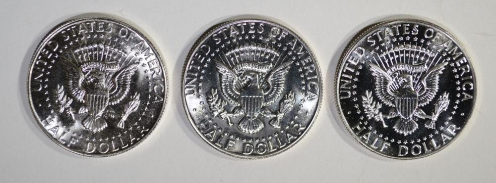 Lot 308: MIXED DATE ROLL OF SMS KENNEDY HALF DOLLARS