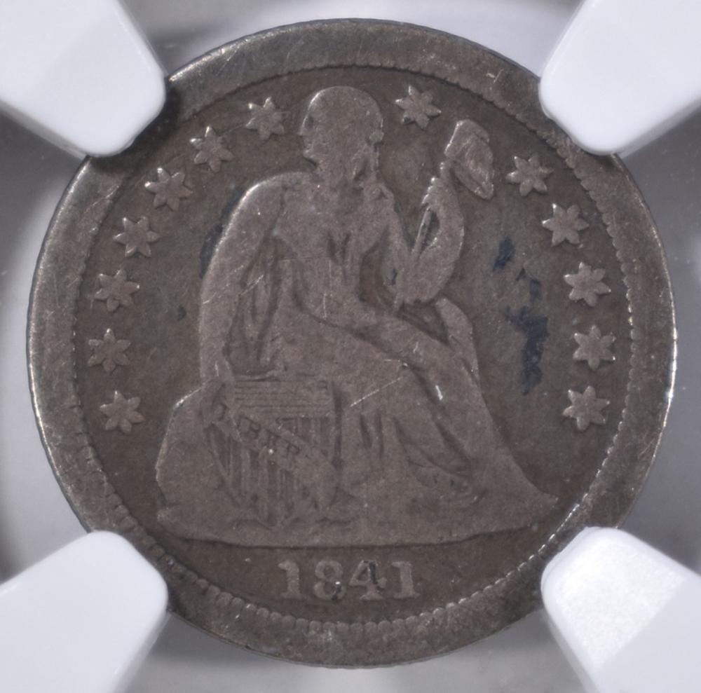 Lot 321: 1841-O SEATED DIME, NGC VG-10