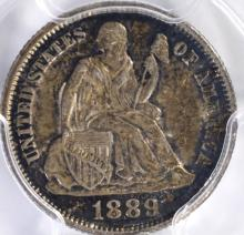 Lot 322: 1889 SEATED DIME, PCGS MS-62