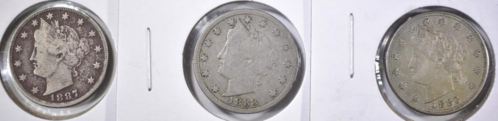 Lot 341: LIBERTY NICKEL LOT: