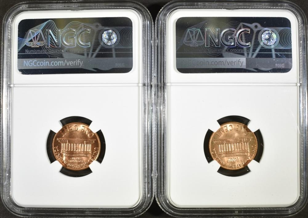 Lot 355: 2 - 1972-S LINCOLN CENTS NGC MS66 RD