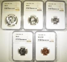 Lot 373: 1965 SMS SET, ALL NGC MS-67