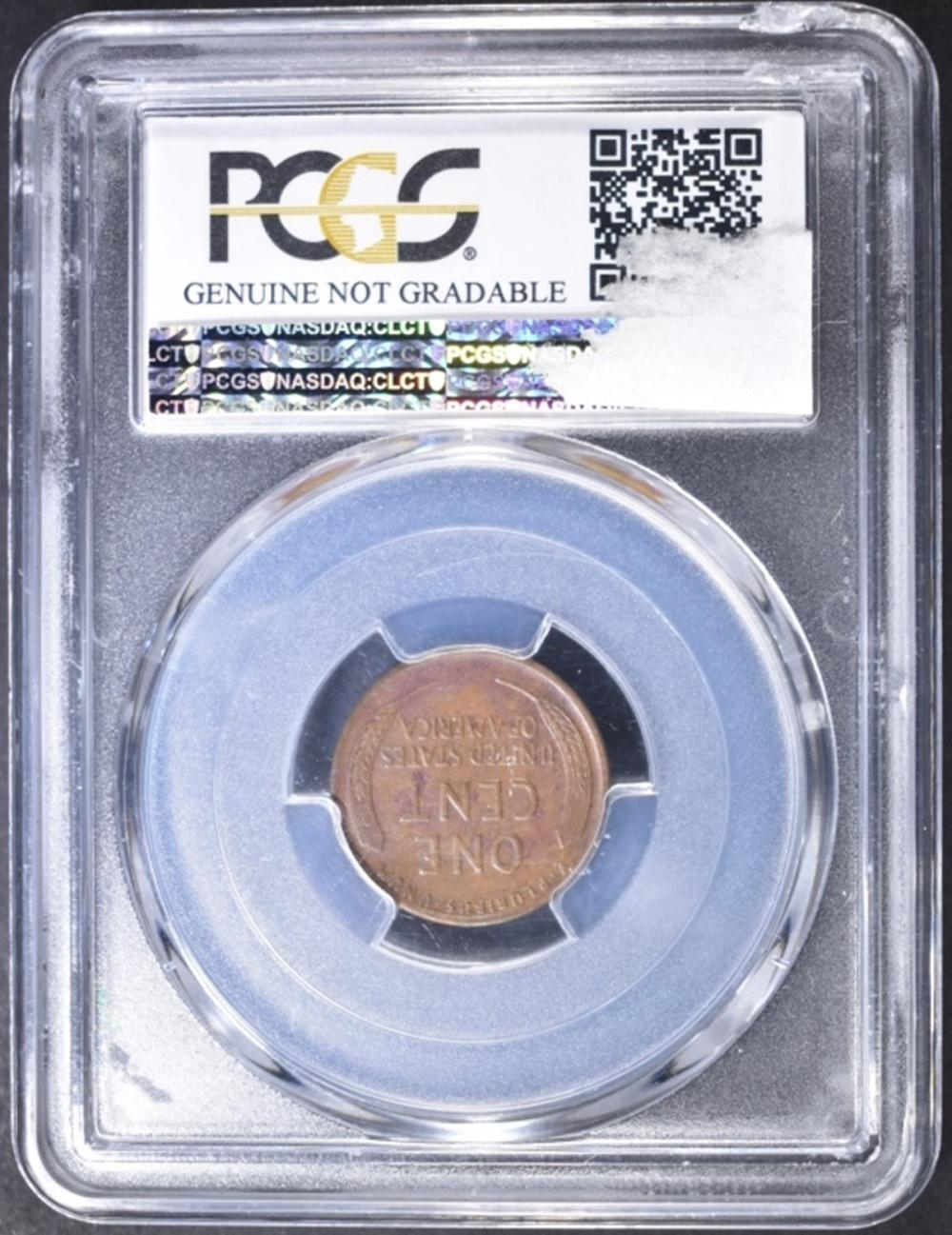 Lot 383: 1914-D LINCOLN CENT PCGS GENUINE CLEANING