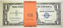 Lot 389: 50 1957 CONSECUTIVE NUMBERED SILVER CERTIFICATES
