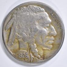 Lot 395: 1926-S BUFFALO NICKEL VF