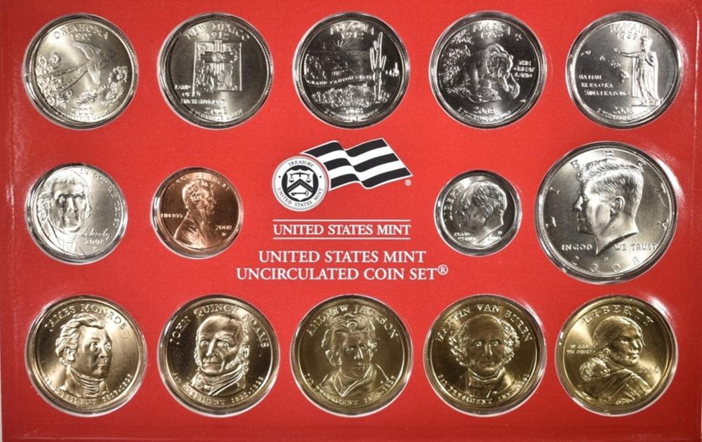 Lot 417: 2-2008 U.S. MINT UNC SETS ORIG PACKAGING