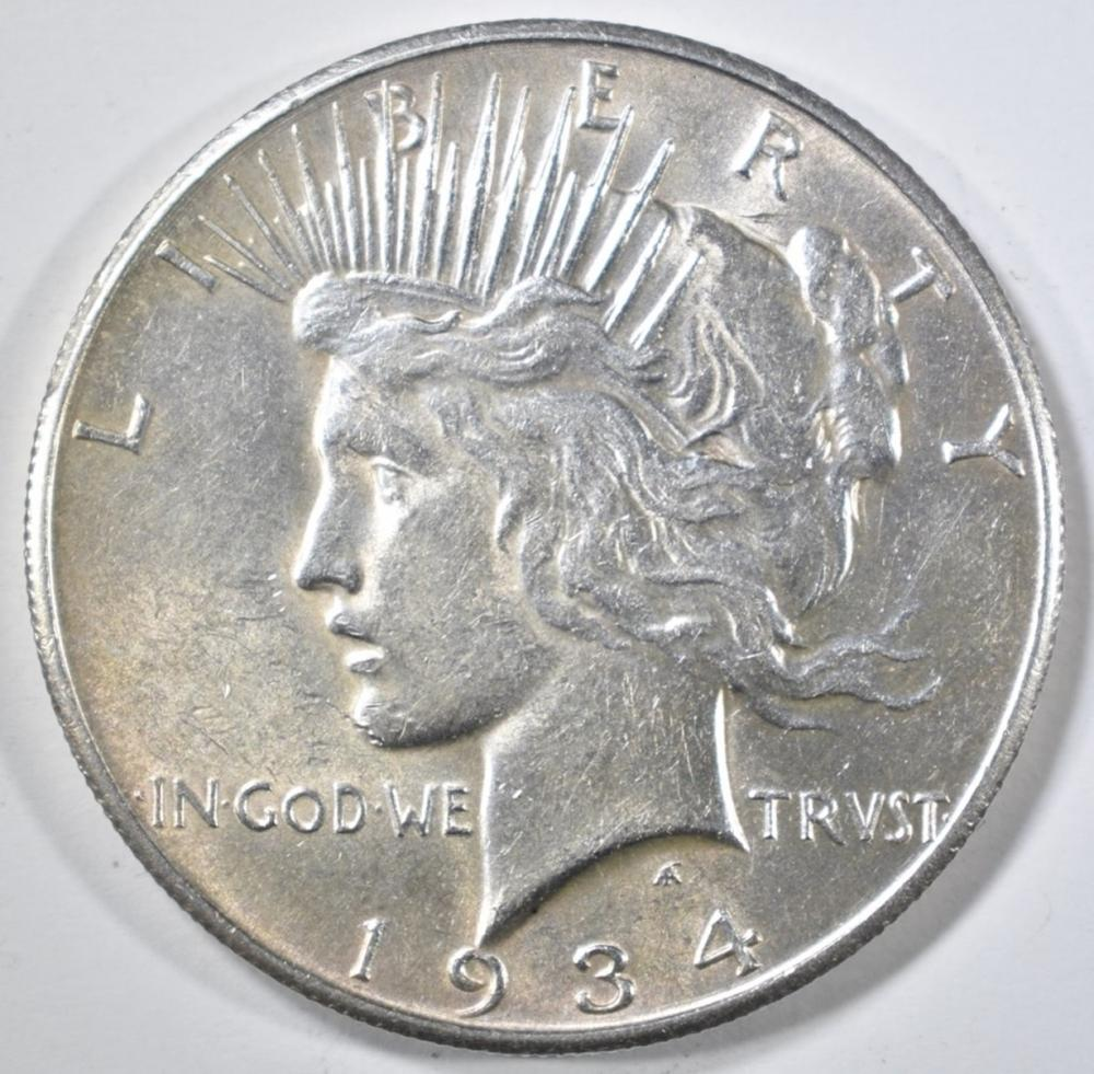 Lot 430: 1934-S PEACE DOLLAR AU/BU