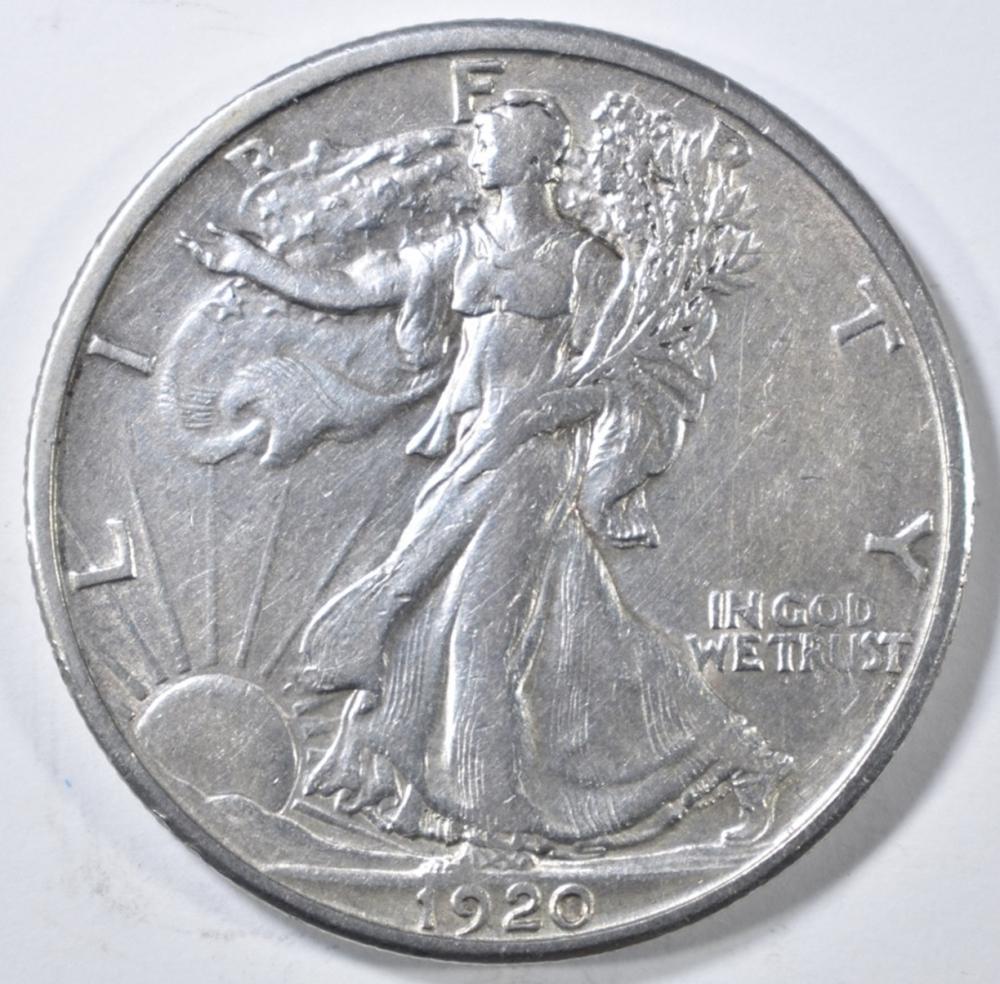 Lot 432: 1920-S WALKING LIBERTY HALF DOLLAR XF/AU