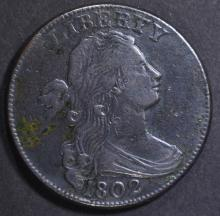 Lot 440: 1802 LARGE CENT XF SOME CORROSION