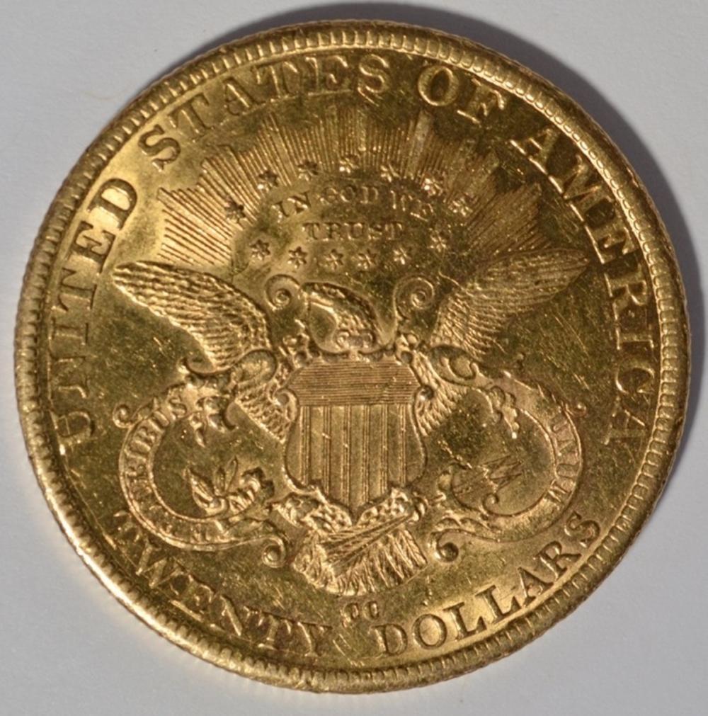 Lot 450: 1882-CC $20 GOLD LIBERTY AU/BU