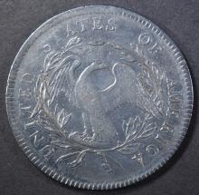 Lot 444: 1795 FLOWING HAIR DOLLAR VF/XF