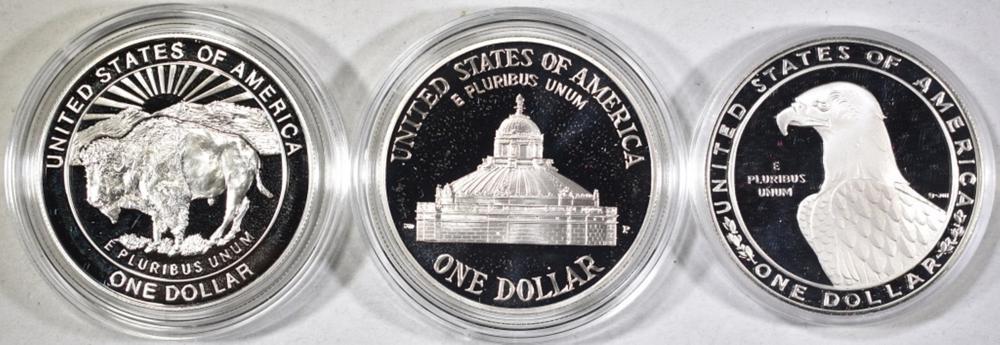 Lot 454: MODERN U.S. PROOF COMMEM SILVER DOLLARS