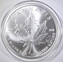 Lot 459: 2015 LEGALIZE 5-OUNCE .999 SILVER ROUND