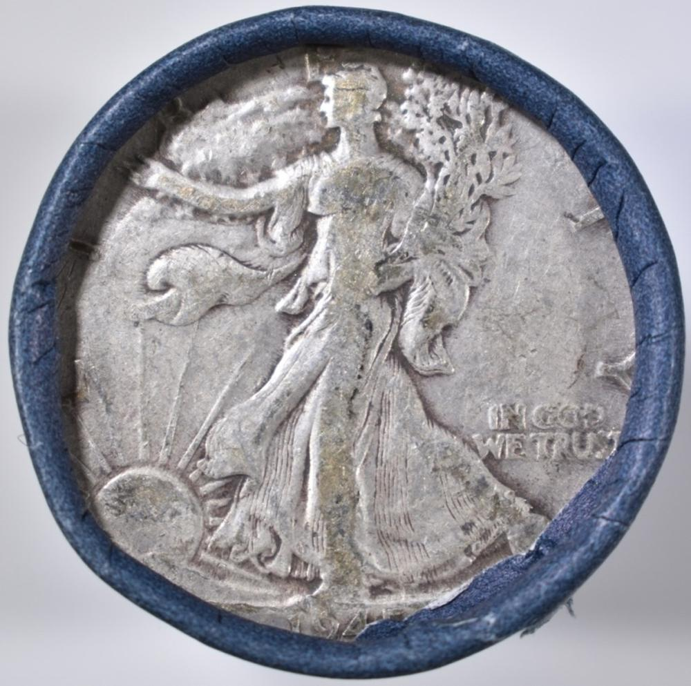 Lot 462: AVE CIRC ROLL OF WALKING LIBERTY HALF DOLLARS