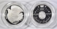 Lot 461: 2-STERLING SILVER BANK OF ENGLAND COINS