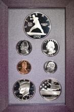 Lot 457: 2-1992 U.S. PRESTIGE PROOF SETS IN ORIG PACKAGING