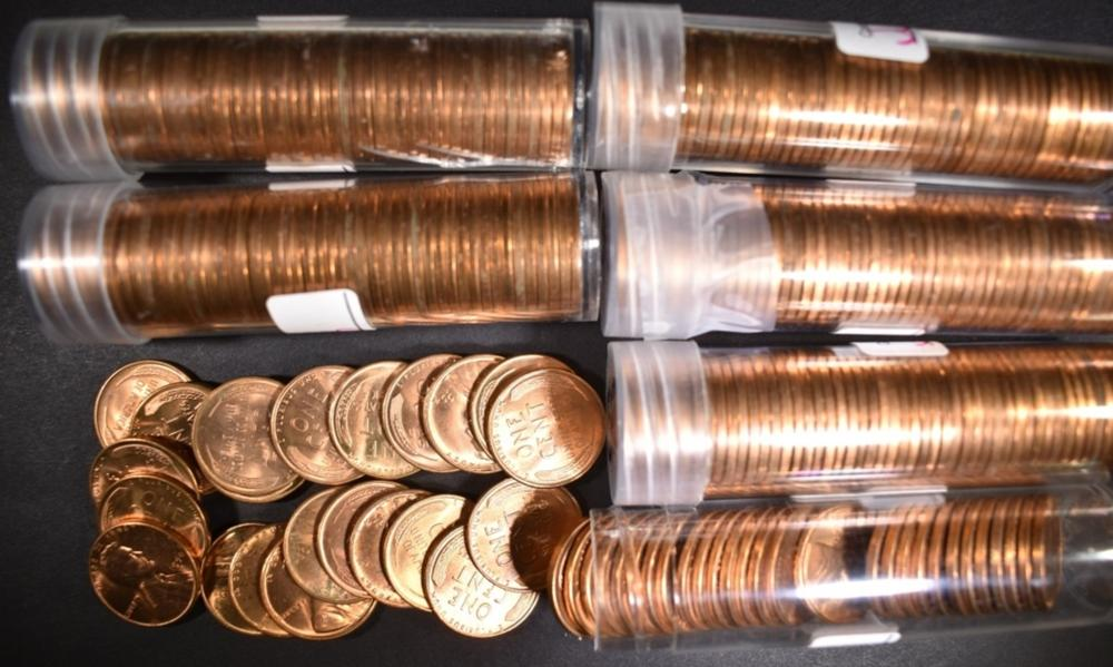 Lot 470: 6-ROLLS BU 1954-S LINCOLN CENTS