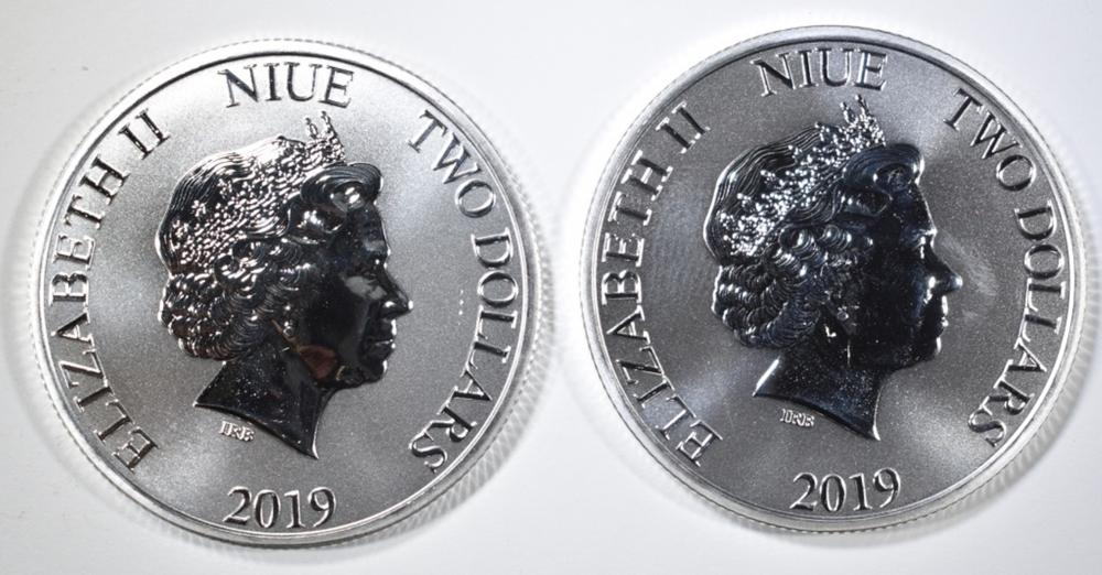 Lot 477: 2-2019 NIUE 1oz SILVER CLONE TROOPER COINS