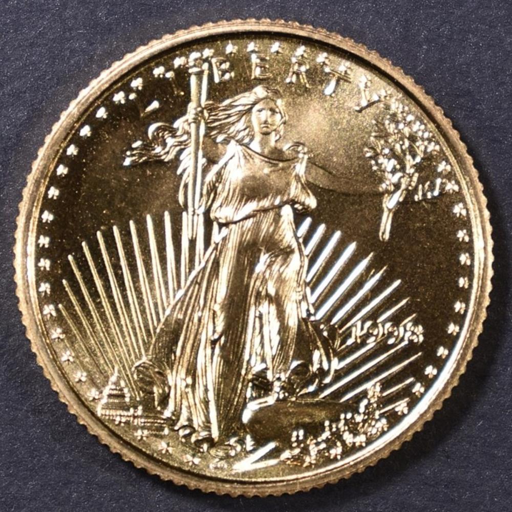 Lot 498: 1998 1/10 oz GOLD AMERICAN EAGLE