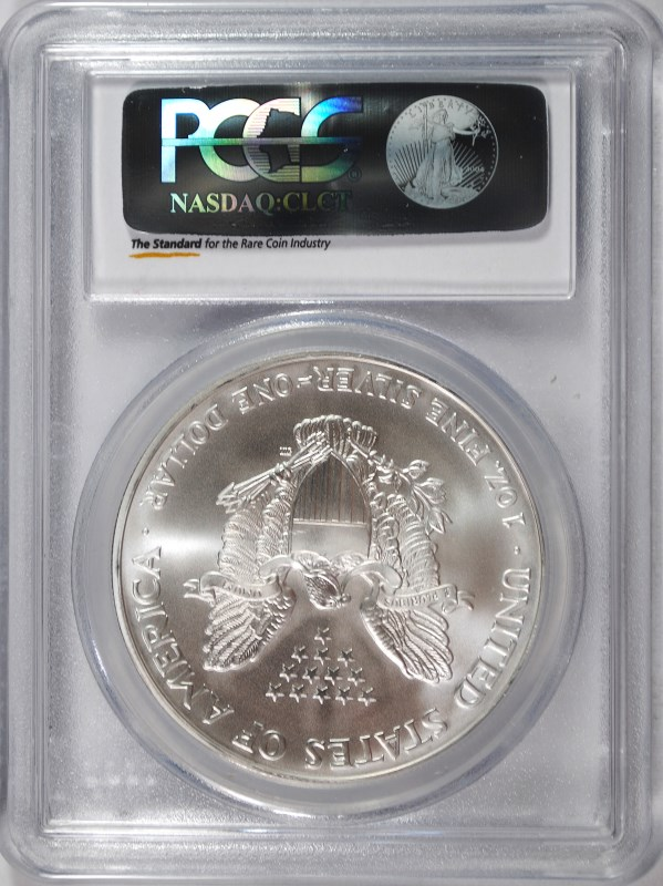 2005 AMERICAN SILVER EAGLE, PCGS MS-70 RARE LISTS IN PCGS