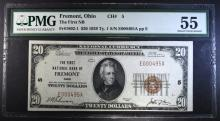1929 $20 Ty 1 NATL CURRENCY FREMONT,OHIO