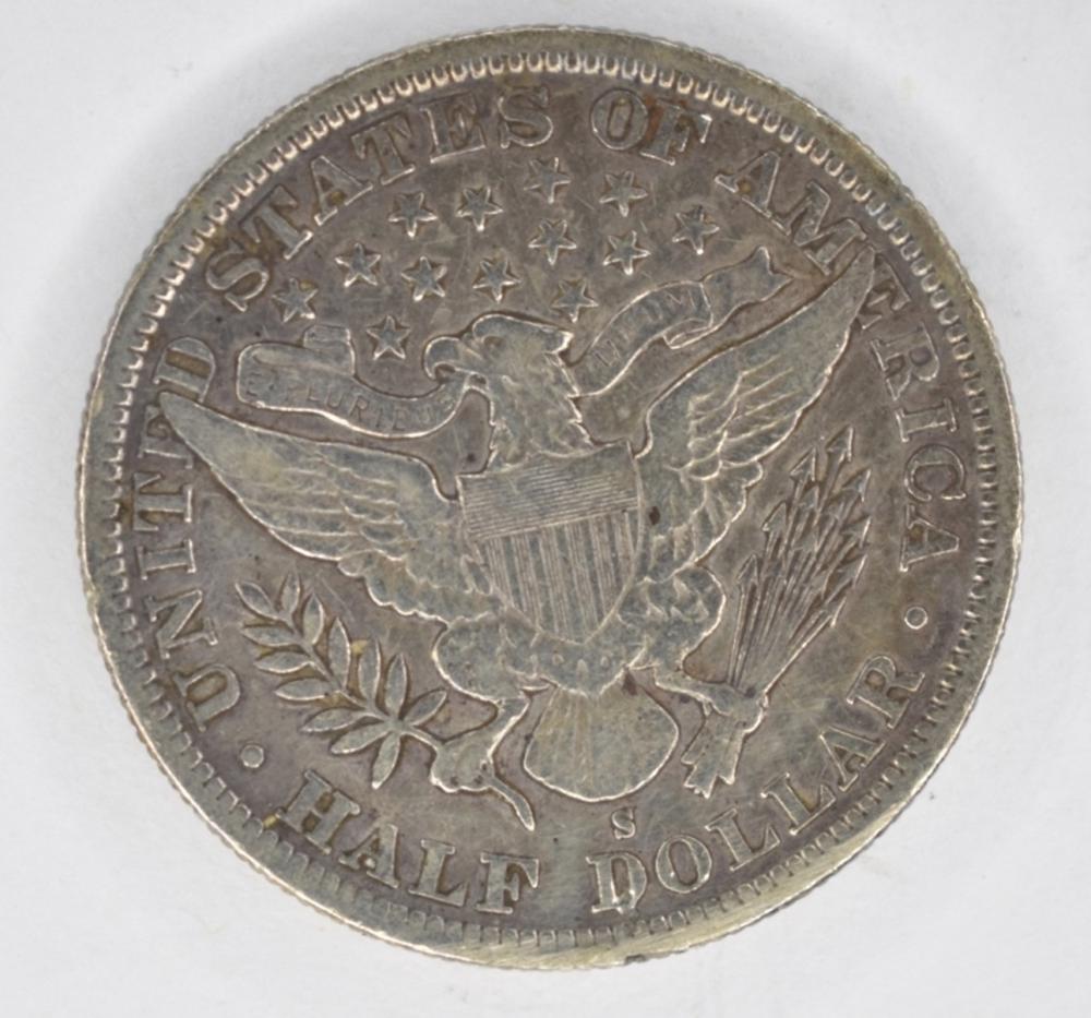 1896 S Barber Half Dollar Vf Key Coin