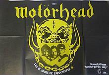 MOTORHEAD RARE 1983 POSTER.