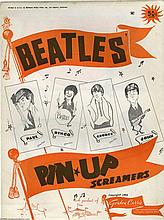 THE BEATLES 1964 SET OF 4 ORIGINAL PIN UP SCREAMERS IN ORIGINAL ENVELOPE.