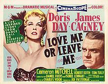 JAMES CAGNEY TITLE CARD AND 2 LOBBY CARDS FOR 'LOVE ME OR LEAVE ME'