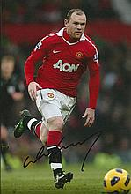 WAYNE ROONEY MANCHESTER UNITED SIGNED PHOTO
