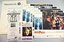 LISZTOMANIA 1975 US LOBBY CARDS WITH OTHER MEMORABILIA FROM THE FILM.