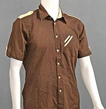 DEAN MARTIN'S OWNED AND WORN 1970'S SHORT SLEEVED ARRIVAL SHIRT.