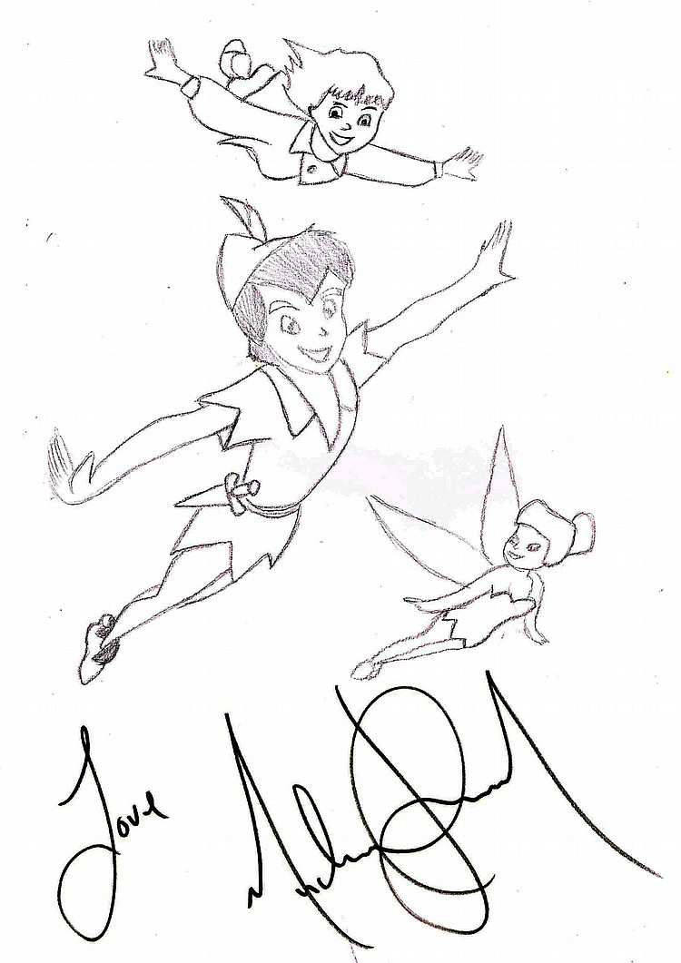 This is a graphic of Persnickety Peter Pan Drawing
