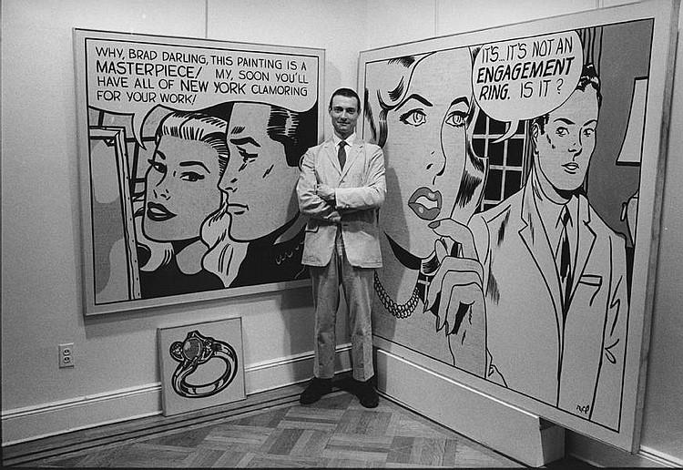 Roy lichtenstein atthe leo castelli gallery in new york city roy lichtenstein atthe leo castelli gallery in new york city 1962 bill ray silver gelatin print voltagebd Images