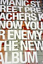 MANIC STREET PREACHERS - KNOW YOUR ENEMY ALBUM POSTER.