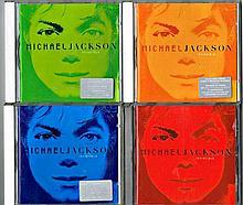 MICHAEL JACKSON SET OF 5 COLOUR INVINCIBLE CD'S