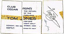 A TOM JONES SIGNED 1966 CONCERT TICKET